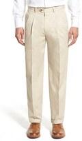 Nordstrom Men's Classic Smartcare(TM) Supima Cotton Pleated Trousers
