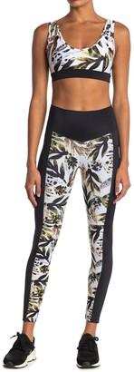 Wear It To Heart Leaf Colorblock Print High Waist Leggings