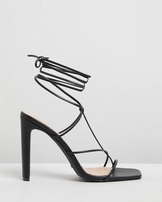Billini Yvette Strappy Slim Block Heels