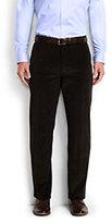Lands' End Men's Traditional Fit Plain Front 10-wale Corduroy Trousers-Kona Brown