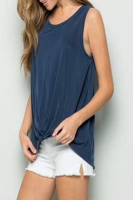 Eesome Knot-Front Tank Top