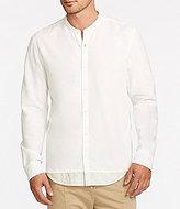 William Rast Hudson Long-Sleeve Solid Modern Mandarin Collar Shirt