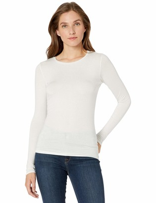 Majestic Filatures Women's Extrafine Metallic Long Sleeve Crew