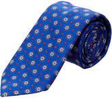 Canali Blue & Red Medallion Silk Tie