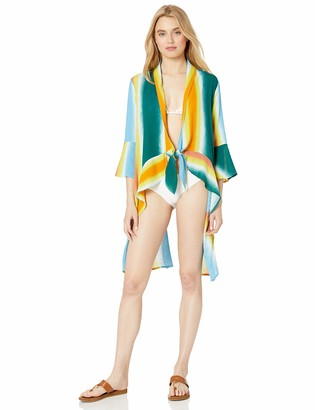BCBGeneration Women's Faded Stripe Cover-Up Jacket