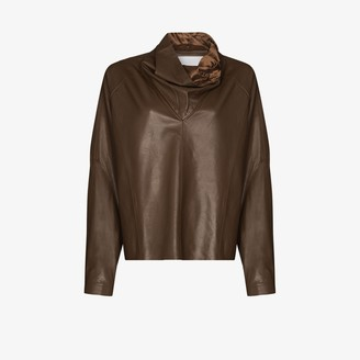 Remain Sortie Leather high neck top