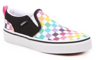Vans Asher Party Check Slip-On Sneaker - Kids'