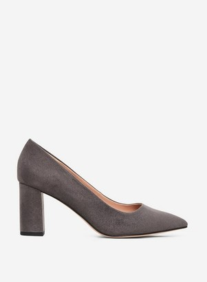 Dorothy Perkins Womens Wide Fit Grey 'Dakota' Court Shoes, Grey