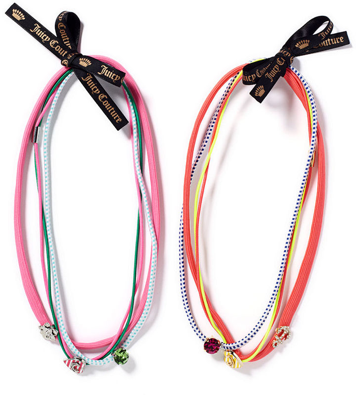 Juicy Couture Hair Accessories, Set of 3 Charm Headbands