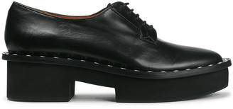 Clergerie Beckie Studded Leather Platform Brogues