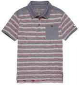 U.S. Polo Assn. Embroidered Short Sleeve Stripe Woven Polo Shirt - Big Kid Boys