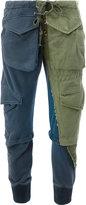 Greg Lauren bicolour military trousers