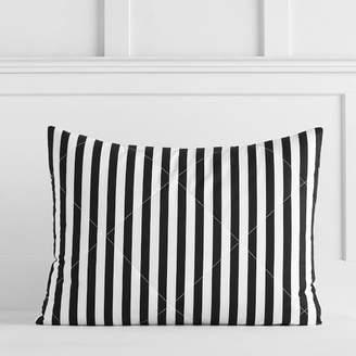 Pottery Barn Teen The Emily &amp Meritt Pirate Stripe Comforter, Full/Queen, Black/Ivory