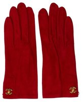 Chanel CC Chevreau Velours Gloves