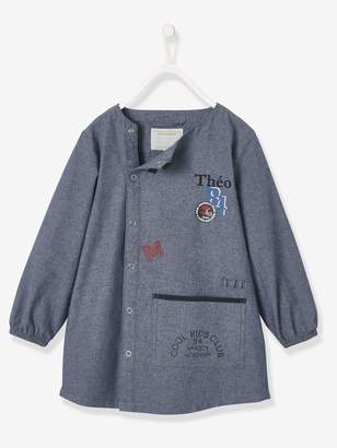 Vertbaudet Light Denim Smock for Boys