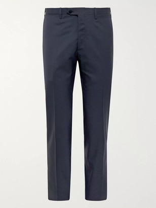 Kiton Slim-Fit Puppytooth Cashmere Suit Trousers - Men - Blue