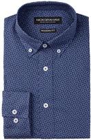 Nick Graham Dot Print Modern Fit Long Sleeve Dress Shirt