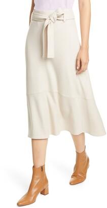 Vince Wool Blend Midi Skirt