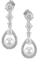 Nadri Lily Faux-Pearl Crystal Drop Earrings