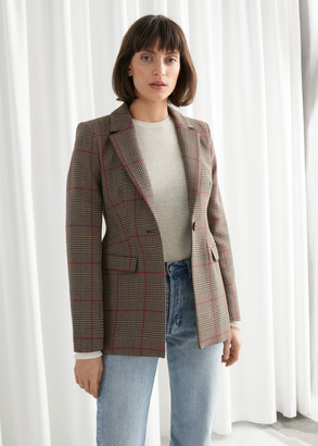 And other stories Hourglass Plaid Blazer