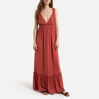 La Redoute Collections Sleeveless Maxi Dress with Gathers