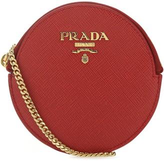 Prada Logo Chain Coin Pouch