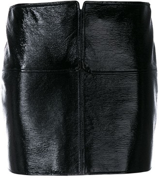Courreges Faux-Leather Mini Skirt