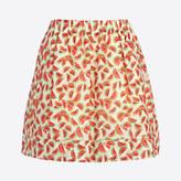 J.Crew Factory Printed cotton skirt
