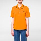 Paul Smith Women's Orange Embroidered PS Logo Polo Shirt