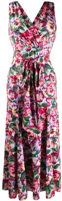 Dolce & Gabbana Floral Print Tie Waist Dress