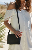 La Hearts Woven Faux Leather Crossbody Bag