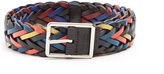 Paul Smith Plaited reversible leather belt