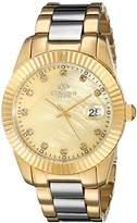Oniss Paris Women's ON6019N-LG Galaxy-Z2 Collection Analog Display Swiss Quartz Gold Watch
