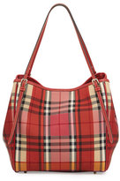 Burberry Canterbury Small Horseferry Check Tote Bag, Parade Red