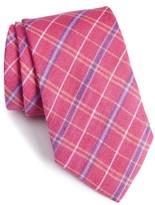 David Donahue Men's Plaid Linen & Silk Tie