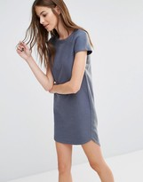 Sisley T-Shirt Dress With Woven Back