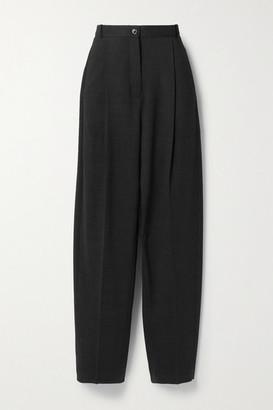 Acne Studios Pleated Wool-blend Straight-leg Pants - Charcoal