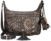 Patricia Nash Laser Lace Camila Double-Zip Crossbody