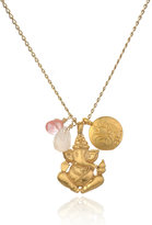 Satya Jewelry Ganesha & Lotus Necklace