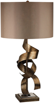 Crystorama Allen Hand-Painted Metal Sculpture Table Lamp