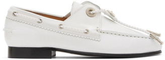 Toga Pulla White Leather Concho Loafers