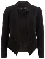 Dorothy Perkins Kardashian black crepe blazer