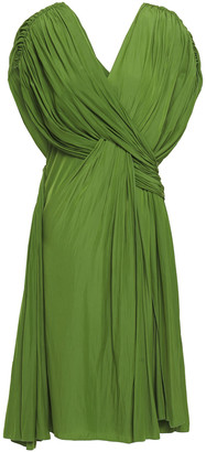Lanvin Draped Twist-front Cady Dress