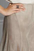 Vionnet Metallic woven wide-leg pants