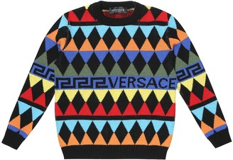 Versace Kids Argyle wool sweater