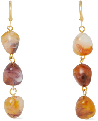 Kenneth Jay Lane Gold-tone Stone Earrings