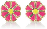 River Island Girls pink flower stud earrings