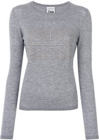 Twin-Set studded flag detail top - women - Acrylic/Polyamide/Wool - XS