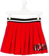 Moschino Kids - logo print pleated skirt - kids - Cotton/Spandex/Elastane - 14 yrs