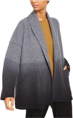 Eileen Fisher Wool Ombre Open-Front Cardigan, Regular & Petite